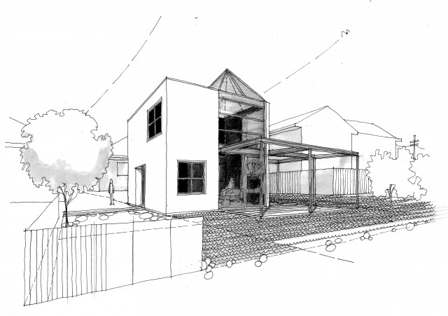 architecture houses sketch. Cube Houses Architecture Sketch